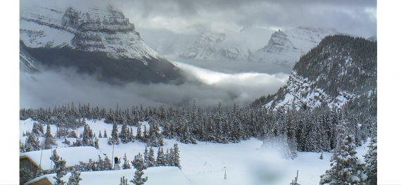 Logan Pass in snow