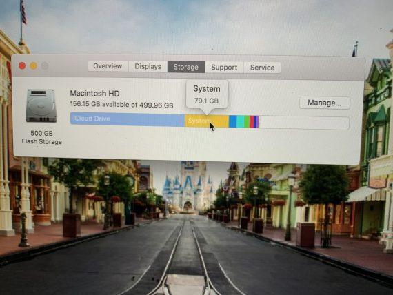MacBook storage metric