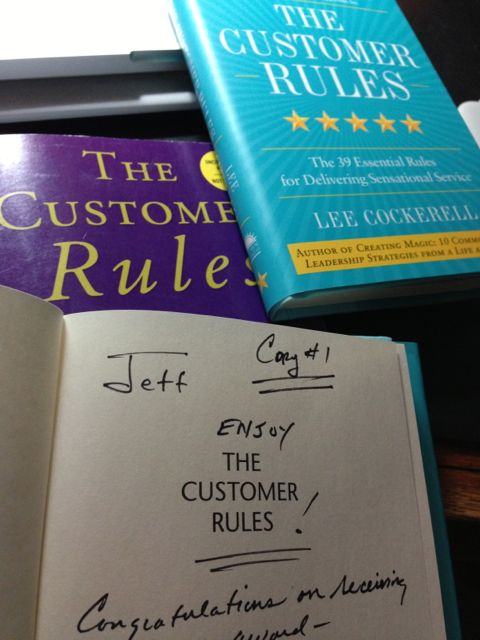 Three unique copies The Customer Rules, by Lee Cockerell
