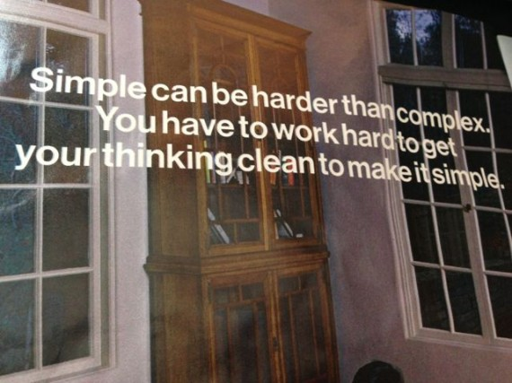 Steve Jobs quote on how difficult simplicity is