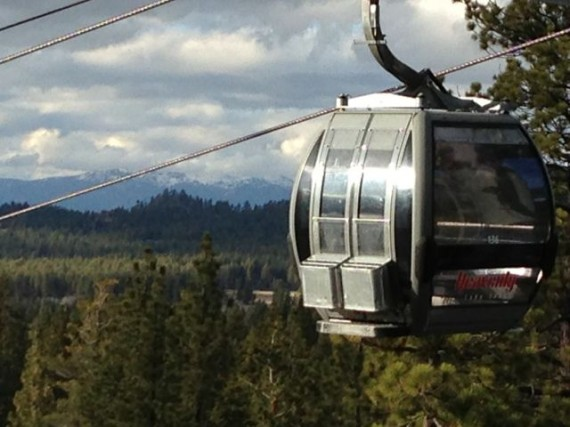 Heavenly Ski Resort gondola in Lake tahoe