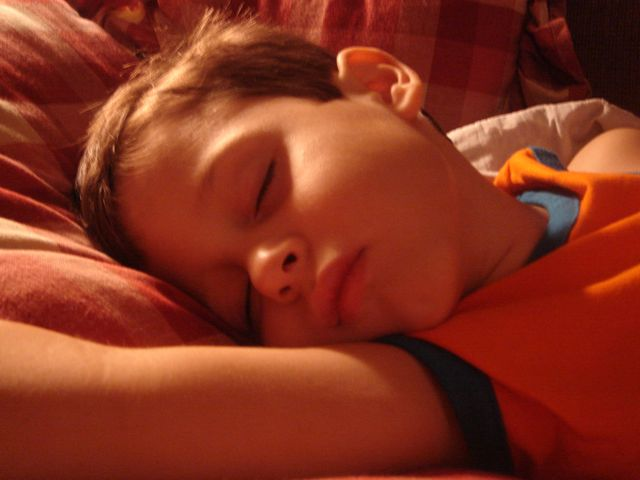 photo of small child sleeping peacefully