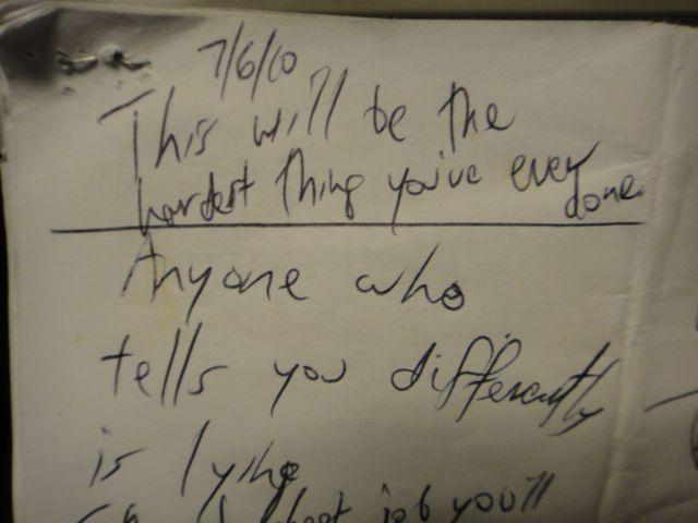 profound message on a napkin
