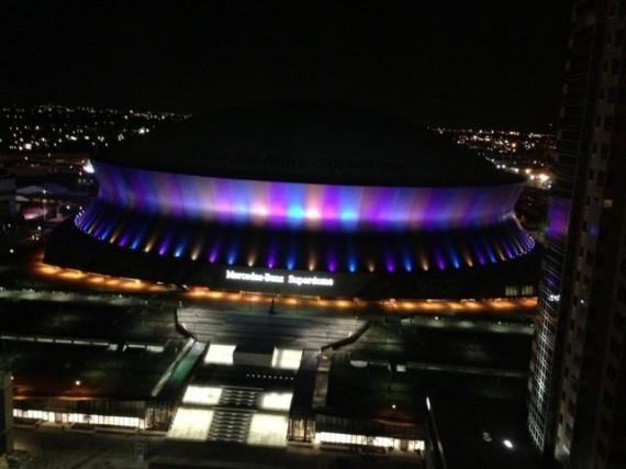 Super Dome at night