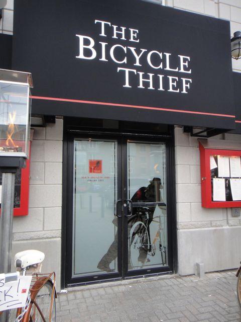 clever Canadian bicycle shop doorway