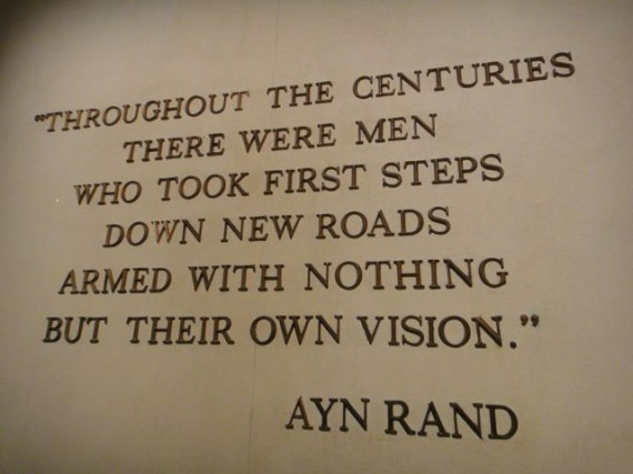 Ayn Rand quote at Disney's American Adventure