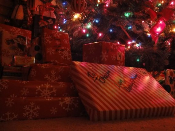 Christmas presents around the tree