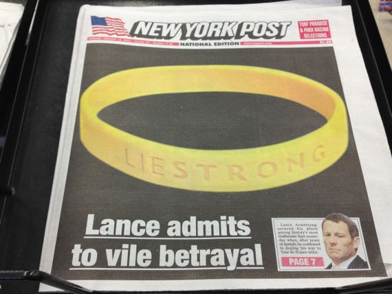 New York Post Lance Armstrong confession