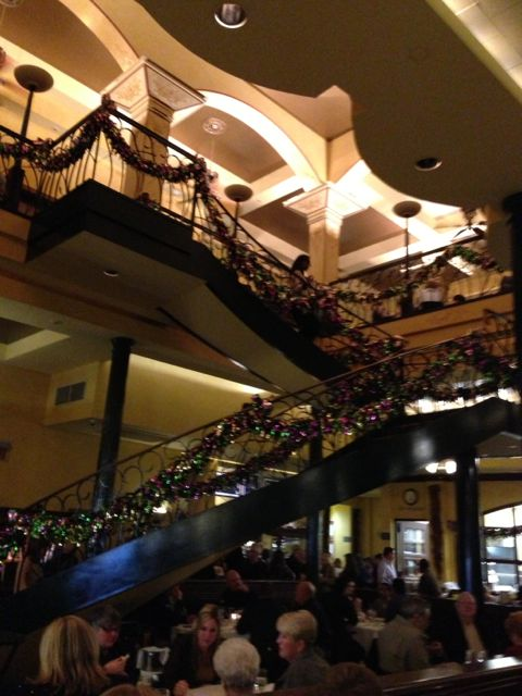 Staircase inside The Palace Cafe on Canal Street in New Orleans