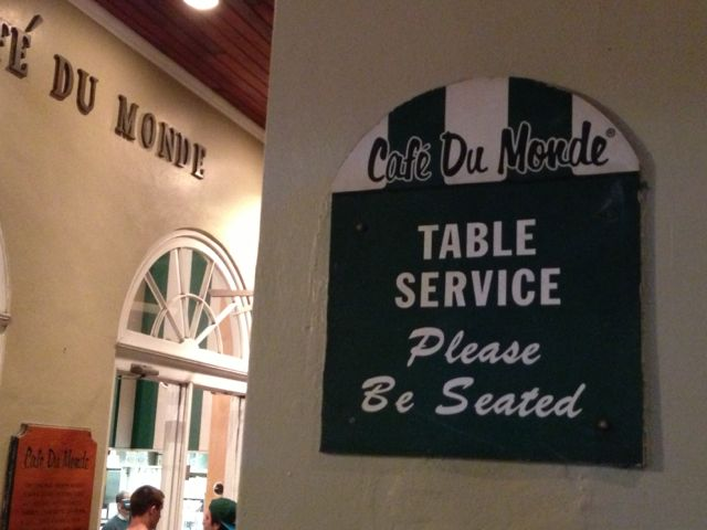 Business travelers to New Orleans often make the trek to Cafe Du Monde