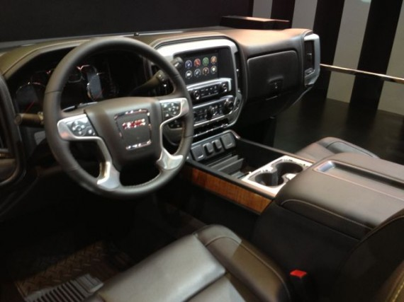 drivers seat view of new GMC vehicle