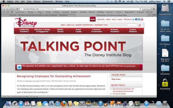 Talking Point Blog (Feb 19, 2013)