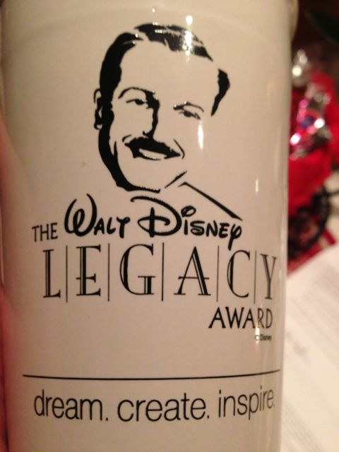 Walt Disney Legacy Award coffee mug
