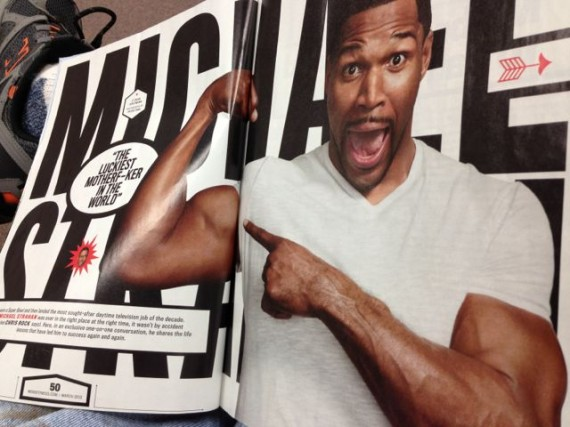Michael Strahan feature in Men's Fitness Magazine