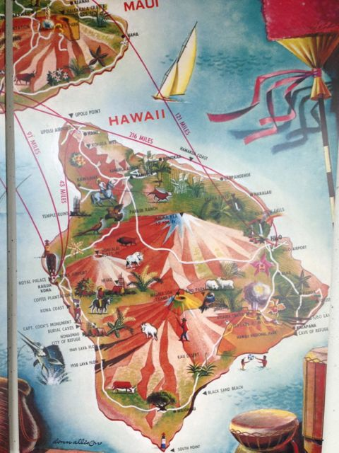 Airport map of Hawaiian Islands