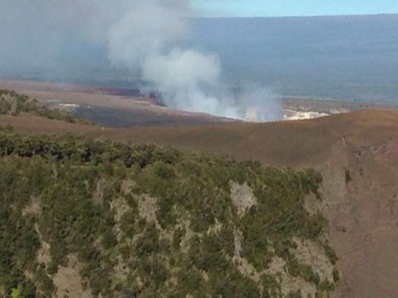 view of Kilauea Iki volcano