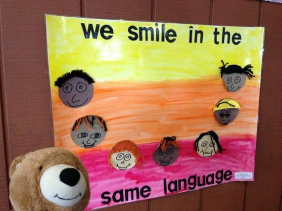 Child's art poster celebrating diversity