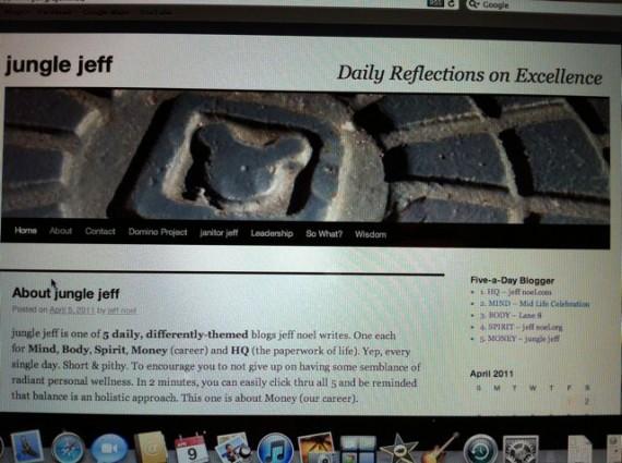 jeff noel's early blogs