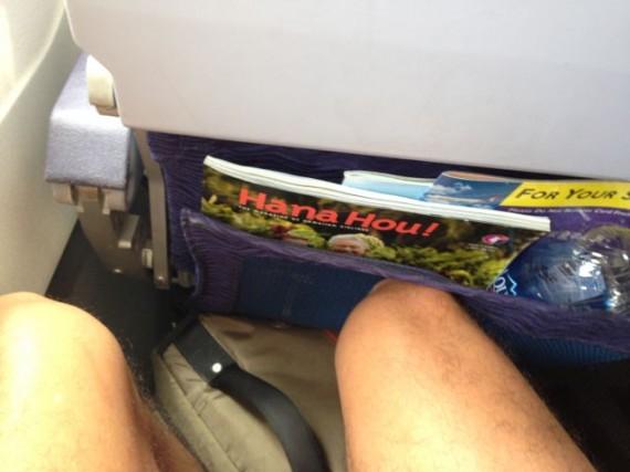 Cramped seating on airplane