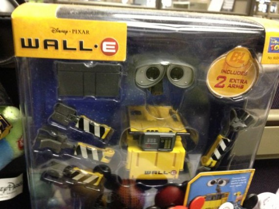 WALL-E toy on office cubicle