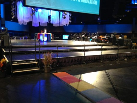 Big theater in the round stage at Orange County Convention Center