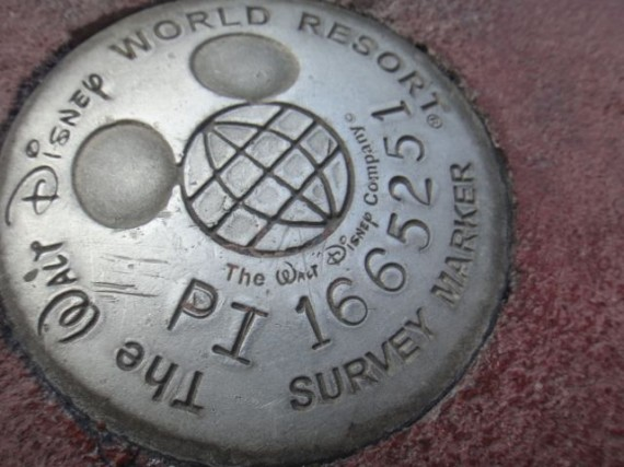 Walt Disney World survey marker