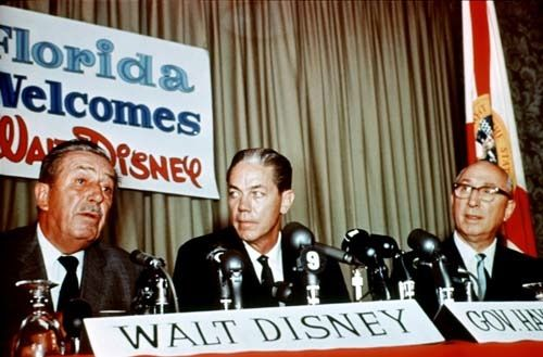 Walt Disney, Hayden Burns, Roy O. Disney coming clean about their huge land purchase