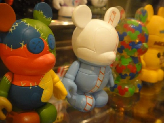 Mickey Mouse vinylmation characters in window display