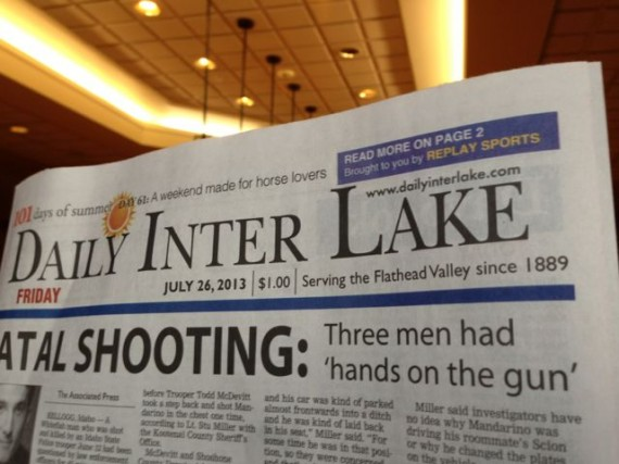 Front Page Kalispell newspaper