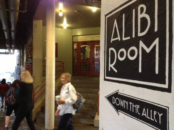 Alibi Room sign, Pike Place Market