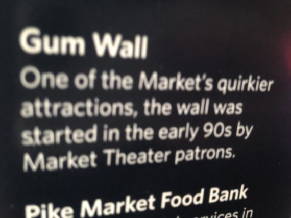 Seattle's Pike Place gum wall