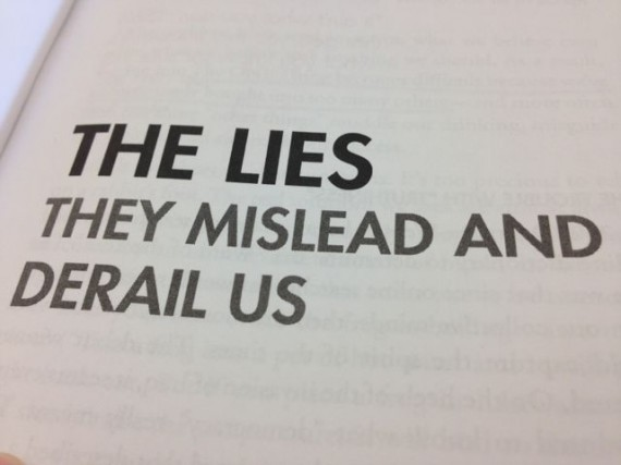 Quote from leadership book about lies