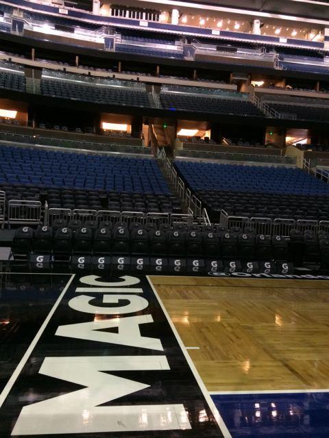 Amway Center basketball court