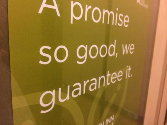 Promises, promises, eh?