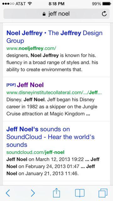 Google jeff noel