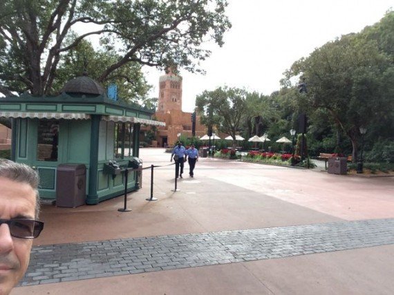 Epcot before it's open