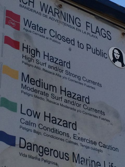 Beach warning flag chart