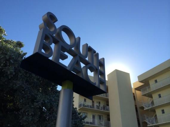 south beach town sign