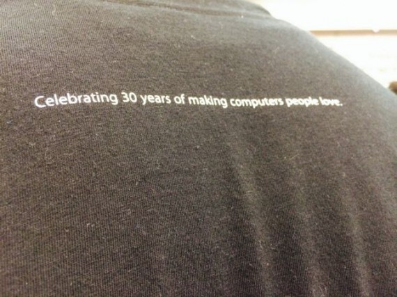 Apple Store employee t-shirt slogan