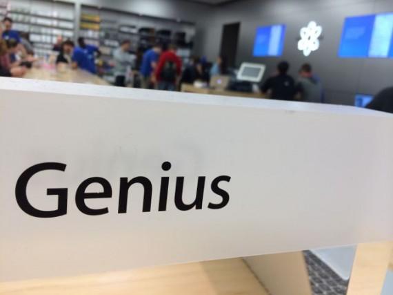 Genius Bar signage