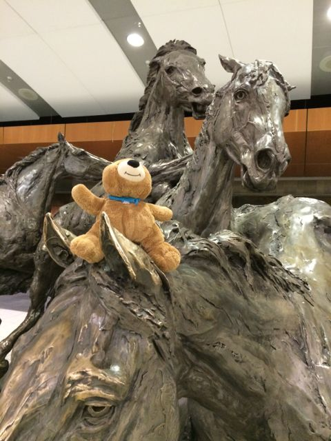 Calgary International Airport horse sculpture