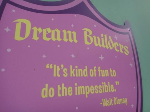Walt Disney World Sign with Walt Disney quote