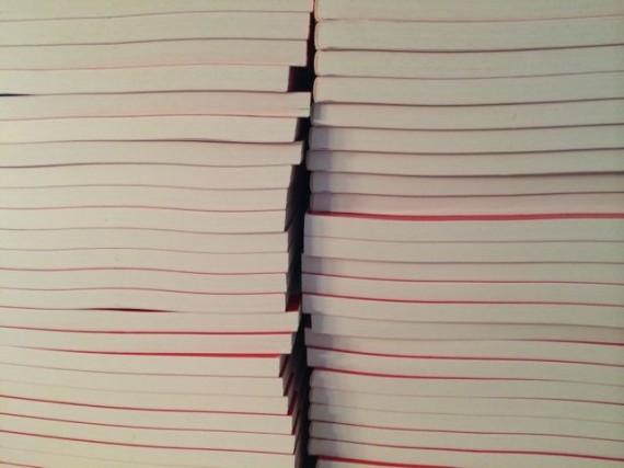 Stack of Mid Life Celebration books