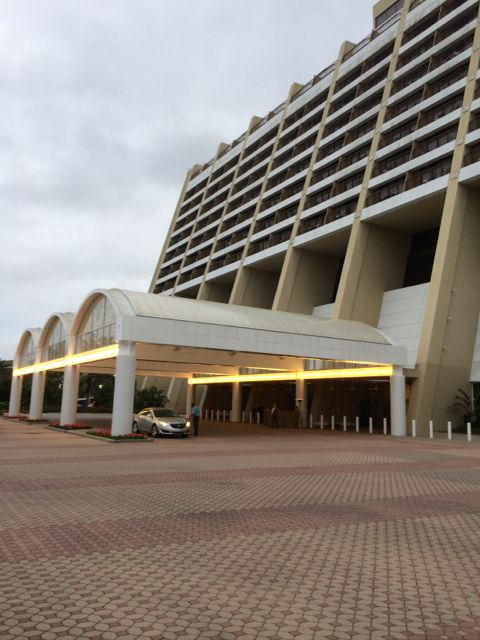 Disney's Contemporary Resort  Porte Cochere on a slow day