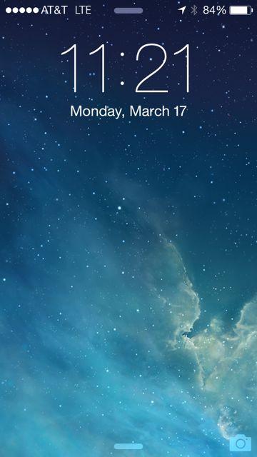 iPhone 5s homepage screen shot