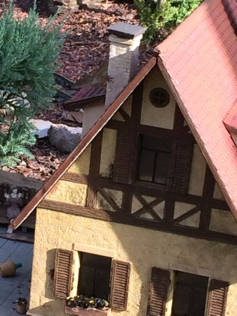 Small home on Disney's Train display near Epcot's Germany