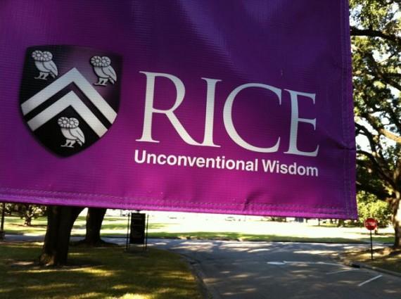 Rice University banner
