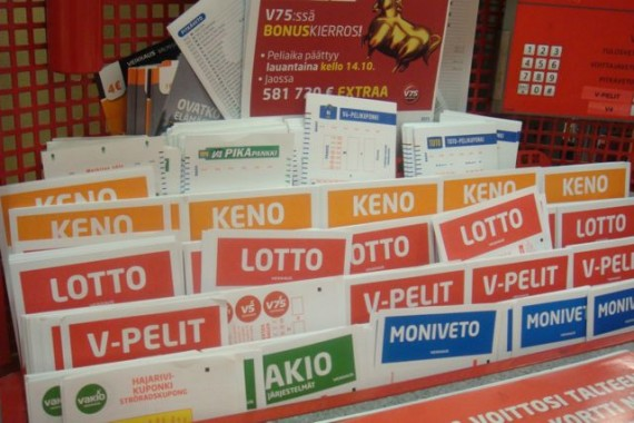 Finland lottery stand