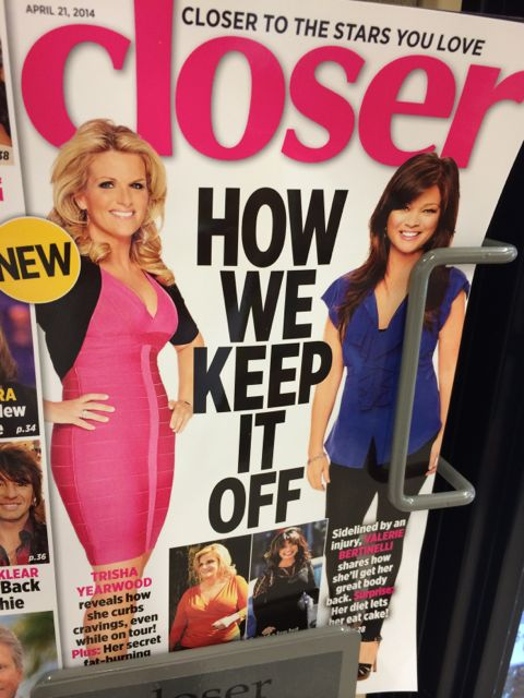 Grocery store tabloid section
