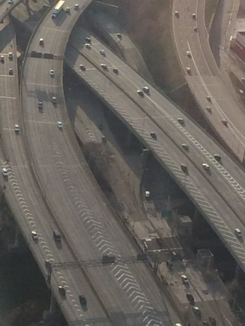 NYC freeway on a Sunday afternoon